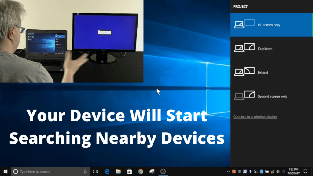 Your Device Will Start Searching Nearby Devices