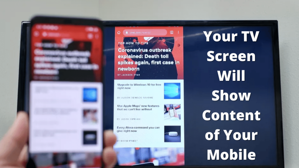 Your TV Screen Will Show Content of Your Mobile